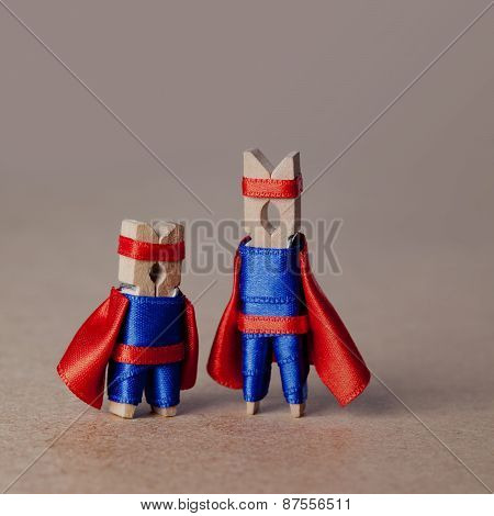 Clothespins. Superheroes