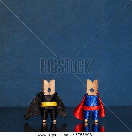 Clothespin Superheroes
