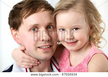 Portrait of happy daughter with dear father