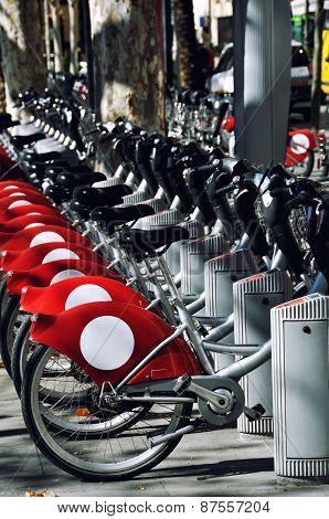 Tourist Bikes In Sevilla, Spain