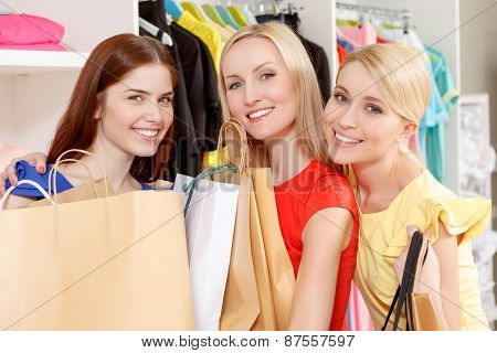 Female shoppers in a store