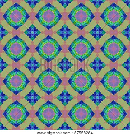 Abstract Colorful Texture Or Background With Circle Pattern Made Seamless
