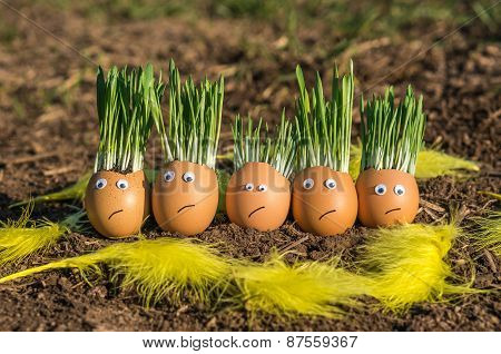 Unhappy Egg Family