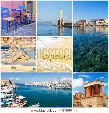 Crete collage, Greece