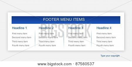 Business Footer Layout