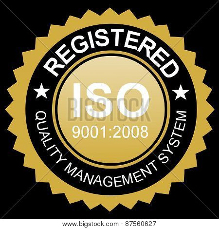 Iso Certified Gold Emblem