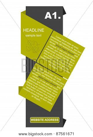 Creative Colored Column With Headline