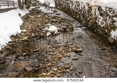 Stream Flows From The Mountains