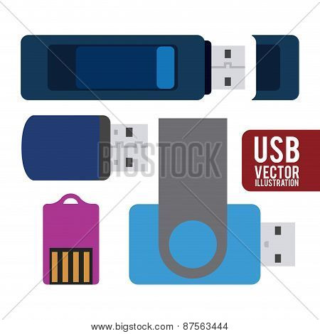 usb connection design vector illustration eps10 graphic