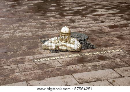 Statue of Worker in Eskisehir city