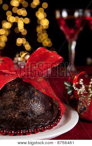 Plum Pudding And Christmas Tree