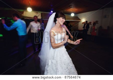 First Dance Bride In A Restaurant