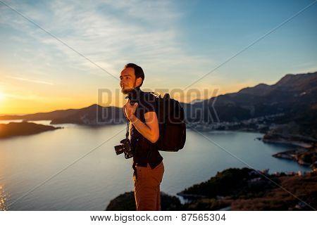 Photographer on the mountain