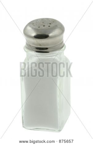 Saltshaker On Pure White Background