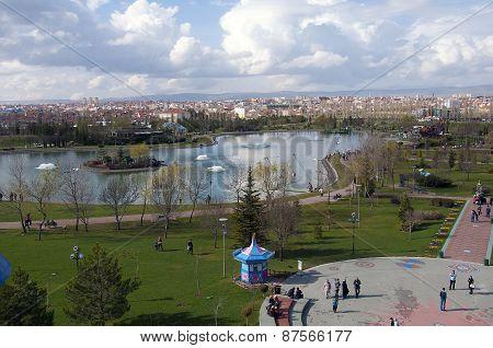 Sazova Park in Eskisehir