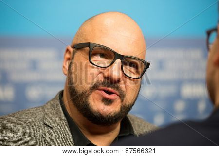 BERLIN, GERMANY - FEBRUARY 10: Piotr Gasowski attends the 'Under Electric Clouds' press conference during the 65th Berlinale International Film Festival at  Hyatt Hotel on February 10, 2015