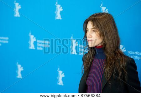 BERLIN, GERMANY - FEBRUARY 10: Charlotte Gainsbourg attend the 'Every Thing Will Be Fine' photocall. 65th Berlinale International Film Festival at Grand Hyatt Hotel on February 10, 2015