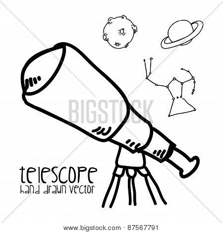 telescope drawn