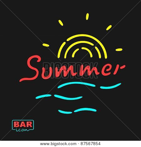 Summer Neon Symbol