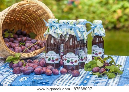 Bottles With  Spicy Plum Sauce