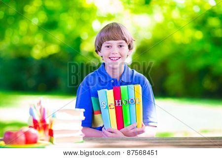 School Boy With Books