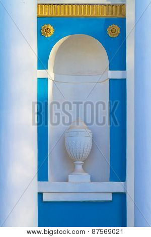 Stucco Moulding Planter In A Alcove