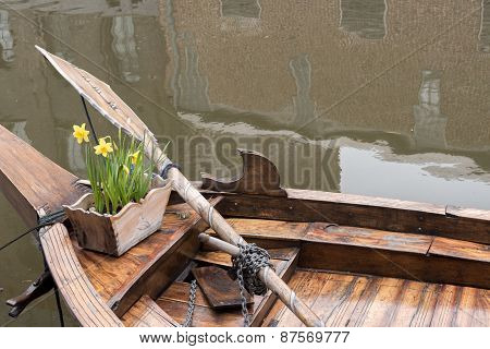 Boat And Daffodils