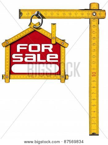 House For Sale Sign - Wooden Meter