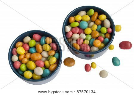 Two Cups With Colored Candy