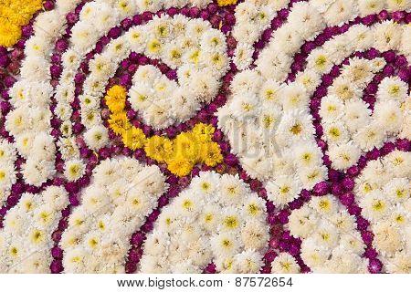 gardening, floristic, holidays and flora concept - beautiful flowers decoration