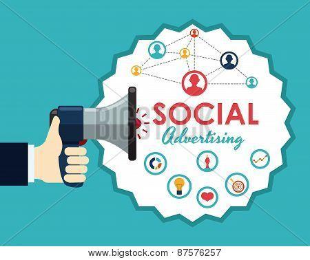 social advertising design vector illustration eps10 graphic