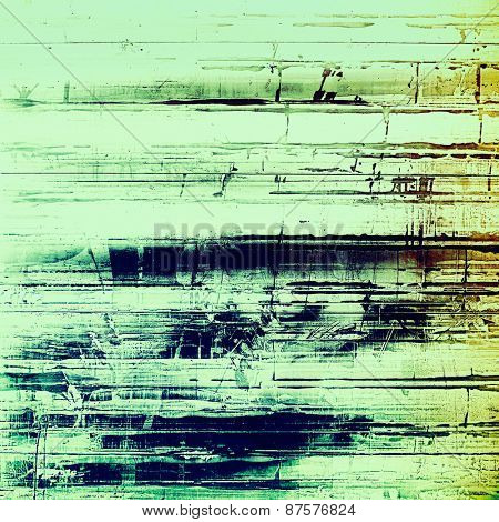 Grunge old texture as abstract background. With different color patterns: brown; green; blue; cyan