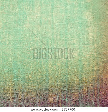 Old texture with delicate abstract pattern as grunge background. With different color patterns: yellow (beige); green; cyan; purple (violet)