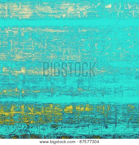 Old antique texture or background. With different color patterns: yellow (beige); blue; cyan