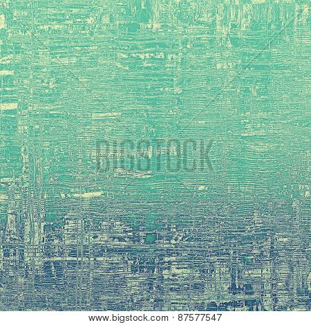 Old grunge template. With different color patterns: green; blue; cyan; gray