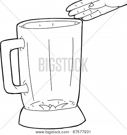 Outline Of Hand Over Blender