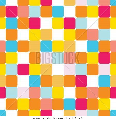 Vector Seamless Pattern With Colorful Bricks, Good For Children's And Bithday's Parties, Scrapbookin