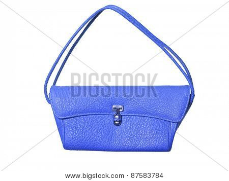 Blue purse isolated on white background
