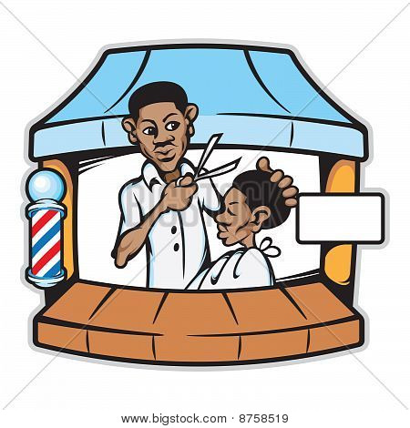 理发店剪头发店图片