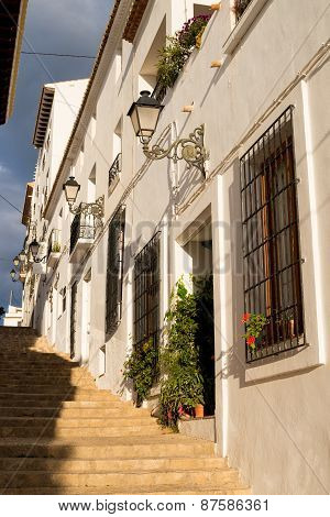 Altea Old Town Street