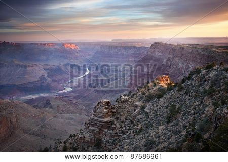 Sunrise At Grand Canyon Az, Usa