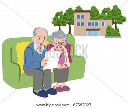 Senior Couple Planning To Move Their Retirement Home