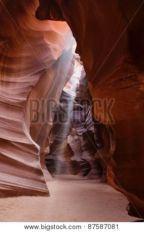 Light Shafts Or Beams Antelope Canyon Arizona