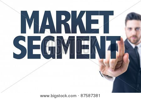 Business man pointing the text: Market Segment