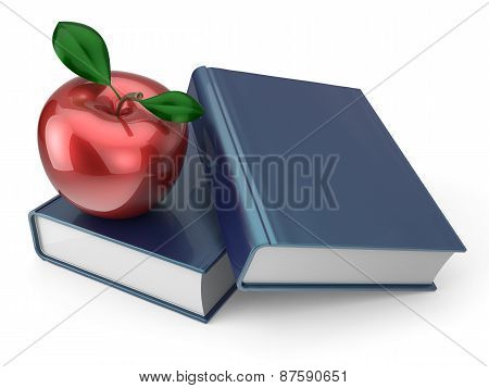 Books With Red Apple Education Health Reading Textbook