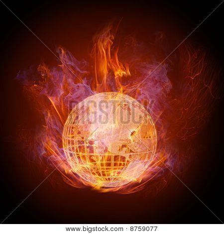 Feuer-Globus
