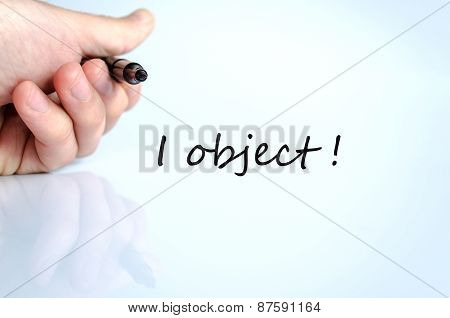 I Object  Concept