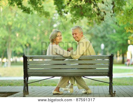 Amusing senior couple