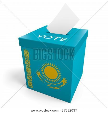 Kazakhstan election ballot box for collecting votes