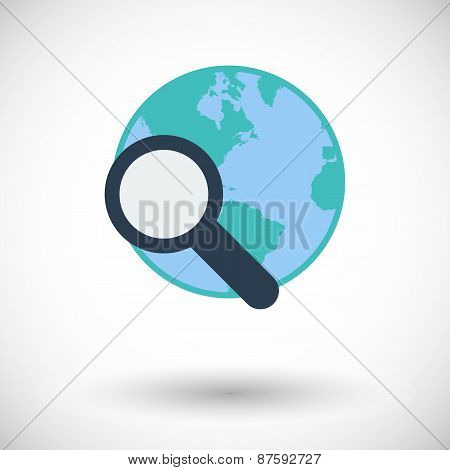 Global search single icon.